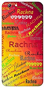 Rachna (Popular Girl Name) Name & Sign Printed All over customize & Personalized!! Protective back cover for your Smart Phone : Samsung Galaxy S4mini / i9190
