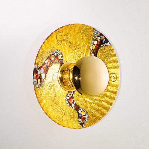 Kolarz Wandleuchte Luna 24 Karat Gold Handarbeit,Made in Italy