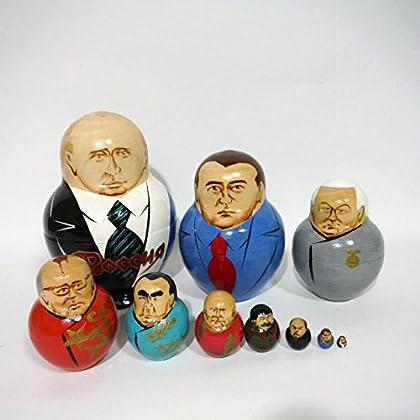 ソ連・ロシアの指導者マトリョーシカ(10ピース)