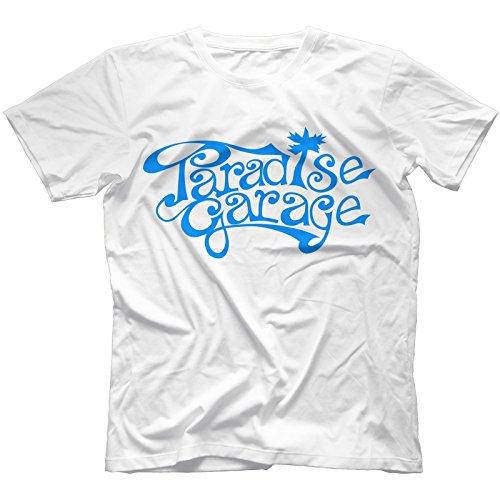 Paradise Garage Sign T-Shirt 100% Cotton Chicago House Music Larry Levan[L,White]