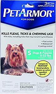 PetArmor Squeeze on Dog Flea and Tick Repellent, 3 Month Pack for 5 to 22-Pound by Petarmor