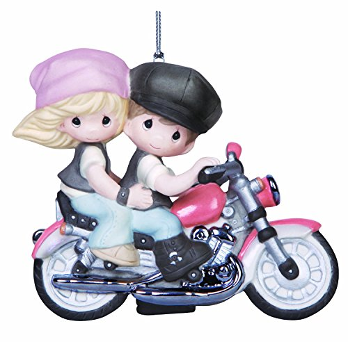 Precious Moments Company Couple on Motorcycle Ornament