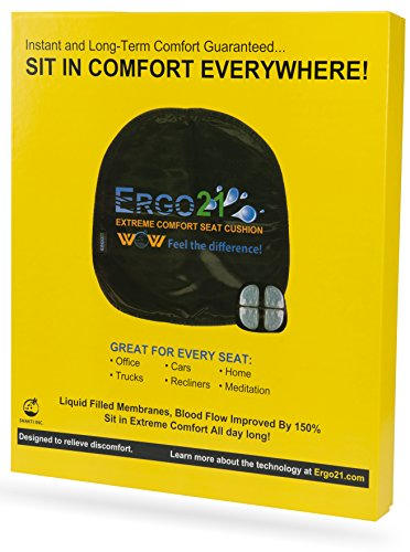 Ergo21 Liquicell Original Seat Cushion – Better Than Gel, Foam, and Air!