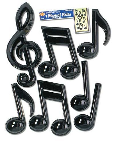 Musical Note Removable Wall Decorations Child - 1