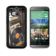 buy Msd Htc One M8 Aluminum Plate Bumper Snap Case Old Vintage Wooden Record Player With Disc Image 22164397