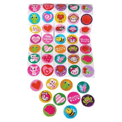 Valentine Roll Sticker Assortment (500 stickers per order)