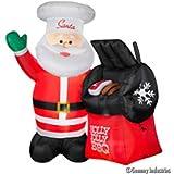 CHRISTMAS 5INFLATABLE .5 FT TALL BBQ SANTA OUTDOOR HOLIDAY YARD DECR