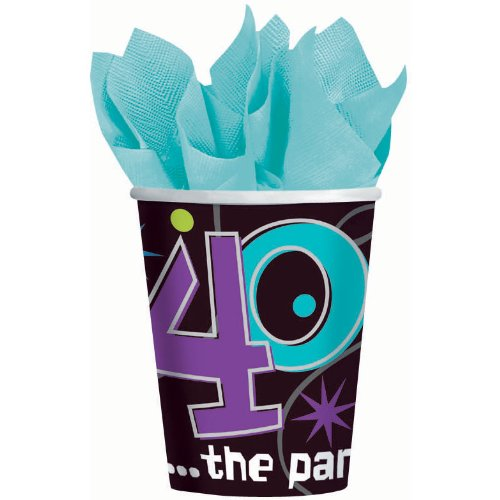 The Party Continues 40th Birthday Paper Cups 8ct [Toy]