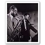 "Charlie Parker and Miles Davis by William Gottlieb 27""x27"" Art Print Posterby Bruce Teleky"
