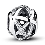 Bamoer Twist Fate with 925 Sterling Silver Charms Beads For Bracelets