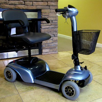 Cosco Blue 4 Wheel Electric Medical Mobility Scooter Cart