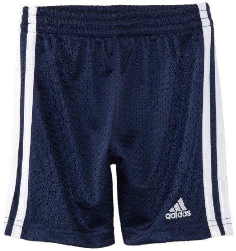 Adidas Little Boys' Adidas Mesh Shorts, Navy, 7