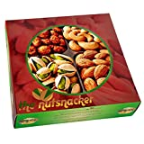 The Nutsnacker Delicious Roasted Healthy Nuts Christmas Gift Box Basket Tray (1 Lb)