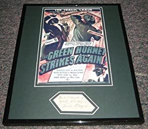 Anne Nagel Green Hornet Strikes Again Signed Framed 11x14 Photo Display - Autographed... by Sports+Memorabilia