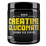 Creatine Gluconate Powder Supplement - 300 Grams of Pure Raw Powder! 100% Risk Free Money Back Guarantee!