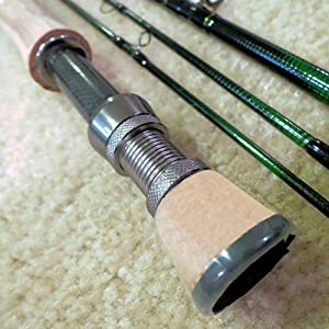 APPALACHIAN FLY ROD, Size 5 6 wt, 4 pc, 9ft, IM-10 Graphite, with machined graphite... by APPALACHIAN