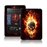 TaylorHe Colourful Decal Vinyl Skin for Amazon Kindle Fire HD Ultra-slim protection with pretty patterns MADE IN BRITAIN Flaming Skull Ghost Rider STYLE