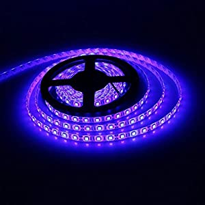 E-Goal 16.4FT 5M SMD 3528 Non Waterproof Double Density 600LEDs Blue LED Flash Strip Light ,LED Flexible Ribbon Lighting Strip,12V by E-Goal