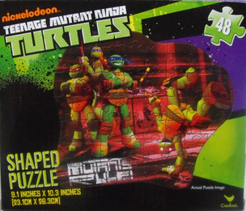 Teenage Mutant Ninja Turtles 48 Piece Shaped Puzzle ~ Mutants Rule - 1