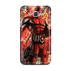 Motivatebox - Samsung Galaxy J5 2016 edition Back Cover - Deadpool Cool Polycarbonate 3D Hard case protective back cover. Premium Quality designer Printed 3D Matte finish hard case back cover.