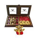 Chocholik Luxury Chocolates - 18pc Amazing And Perfect Combination Of Chocolates And Rocks With Small Ganesha...