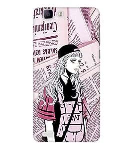 EPICCASE Brave Girl Mobile Back Case Cover For Vivo X 3s (Designer Case)
