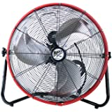 MaxxAir HVFF 20S RED Shroud Floor Fan, 20-Inch, Red