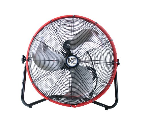 MaxxAir HVFF 20S REDUPS Shroud Floor Fan, 20-Inch, Red (20 Inch Metal Fan compare prices)