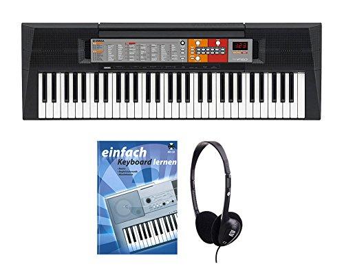 Yamaha PSR-F50 Keyboard SET inkl. Kopfhörer und Schule (61 Tasten, 120 Klangfarben, 114 Begleitstyles, Panel Sustain, LED, Reverb, inkl. Notenablage, Noten)