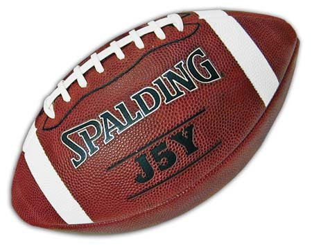 Spalding Leather Football - 62-925 J5Y Silver - Youth size football skills