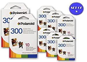 Polaroid 300 Instant Film for PIC300 Series Cameras (10 Color Prints) (8 Pack)