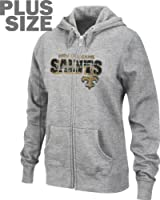 Orleans Saints Women's Plus Size Football Classic III Full Zip Hooded Sweatshirt from VF Imagewear