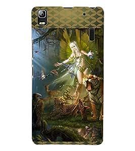 ColourCraft Loving Angel Design Back Case Cover for LENOVO A7000 PLUS