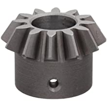 "Boston Gear HL148Y-P Bevel Pinion Gear, 2:1 Ratio, 0.375"" Bore, 16 Pitch, 12 Teeth, 20 Degree Pressure Angle, Straight Bevel, Keyway, Steel with Case-Hardened Teeth"