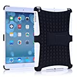 A Fashion Case Shop Ipad Air Case, Ipad Air Case Cover - Ipad 5 Shock-absorption / Impact Resistant Hybrid Dual Layer Armor Defender Protective Case Cover with Built-in Kickstand for Apple Ipad Air 5th Gen 2013 (Three Month Warranty) (Gift for Screen Protector Film and Clean Cloth) (ipad air white)