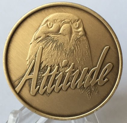 Attitude/Progress not Perfection - Bronze Medallion