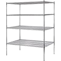 Sandusky WS722474-C Chrome Steel Heavy Duty Adjustable Wire Shelving