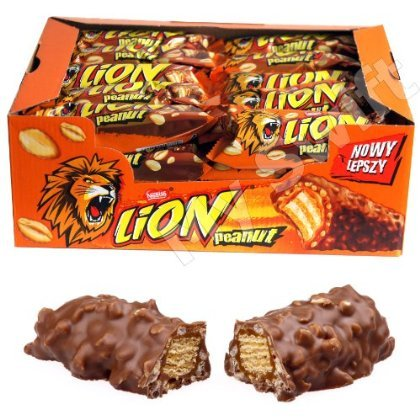 Lion Peanut Chocolate Bar by Nestle - Full Box of 40 x 40g Bars