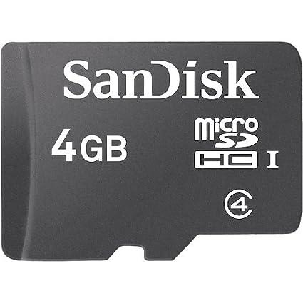 SanDisk 4GB MicroSDHC Class 4 Memory Card