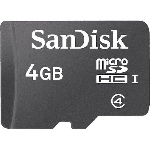 SanDisk SDSDQM-004G-B35 Tarjeta de memoria SDHC de 4 GB negro