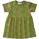 Swedish Kids 2 Year Girls Green Apple Dress