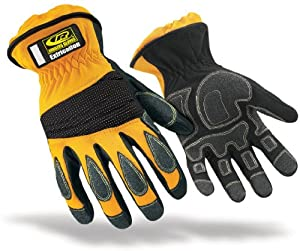 Ringers Gloves 314-10 Extrication Short Cuff Glove, Yellow, Large