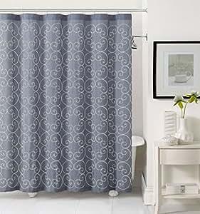 Victoria Classics Stella Fabric Shower Curtain By Goodgram Assorted Colors Dark