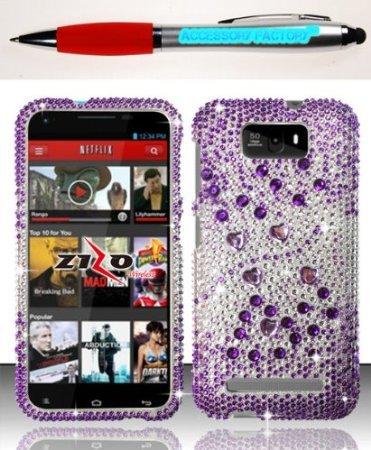 Bloutina Accessory Factory(Tm) Bundle (The Item, 2In1 Stylus Point Pen) For Blu Studio 5.5 D610 - Purple Beats Fpd Case...
