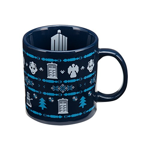Doctor Who Themed Ugly Sweater Mug
