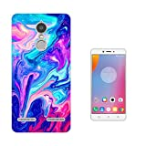 002113 - Cool liquid Marble Effect Universe Hot Pink Blue