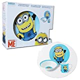 Despicable Me 3 Piece Ceramic Dinnerware Set Breakfast Bowl menu Mug