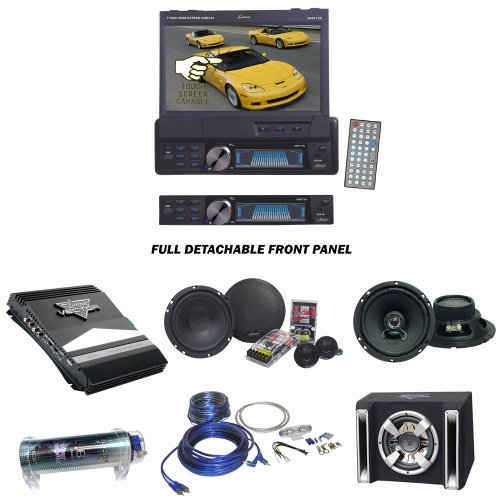Lanzar Car DVD Player, Amplifier, Speaker, Bass