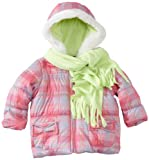 Pacific Trail   Kids Baby Girls' Plaid Jacket With Scarf