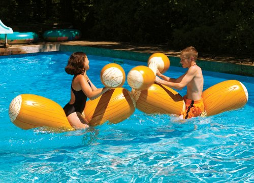 Log Flume Inflatable Joust Set Pool  Toy